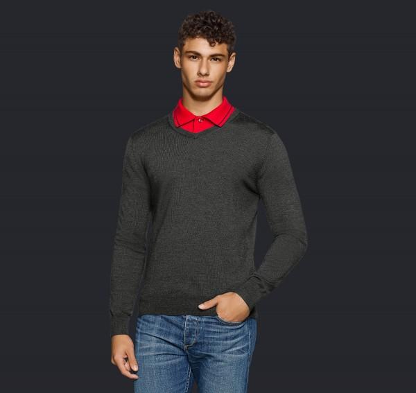 HAKRO V-Pullover Merino Wool #144
