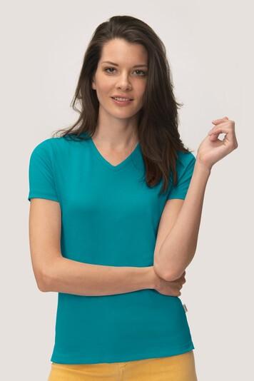 HAKRO Cotton Tec Damen V-Shirt #169