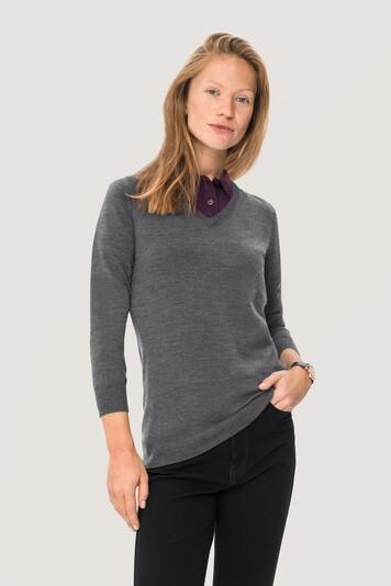 HAKRO Damen V-Pullover Merino Wool #134