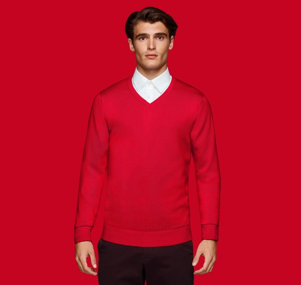 HAKRO V-Pullover Premium-Cotton #143