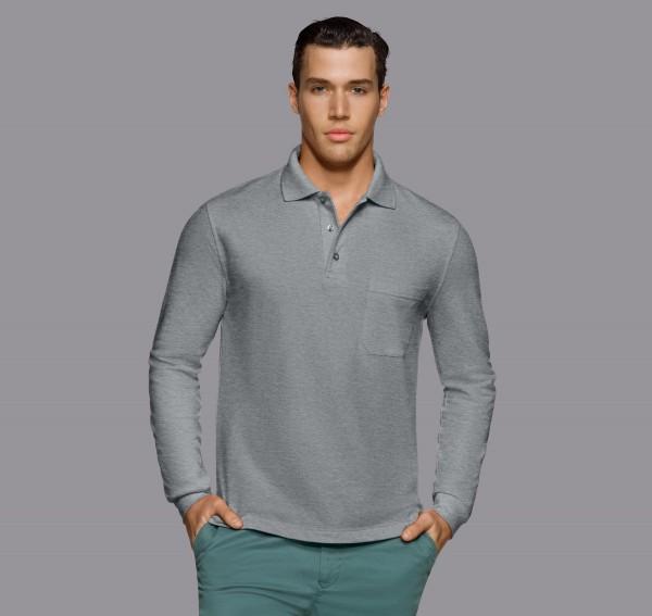 HAKRO Longsleeve-Pocket-Poloshirt Top #809HAKRO Longsleeve-Pocket-Poloshirt Top #809