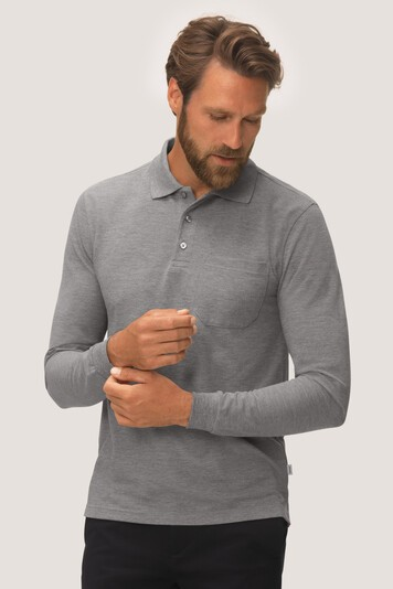 HAKRO Longsleeve-Pocket-Poloshirt Top #809