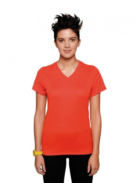 HAKRO Damen-V-Shirt Coolmax® #187