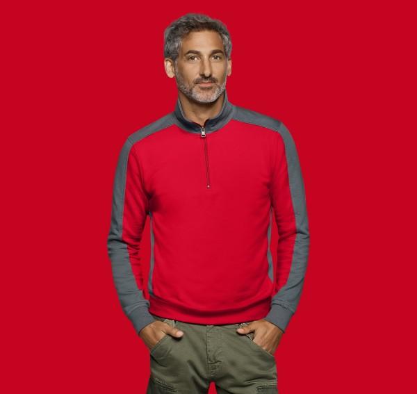 HAKRO Zip-Sweatshirt Contrast Performance #476