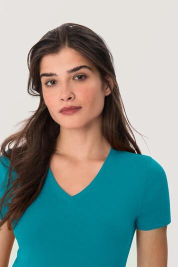 HAKRO Damen-V-Shirt Classic #126