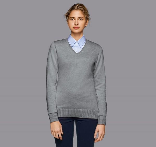 HAKRO Damen-V-Pullover Premium-Cotton #133