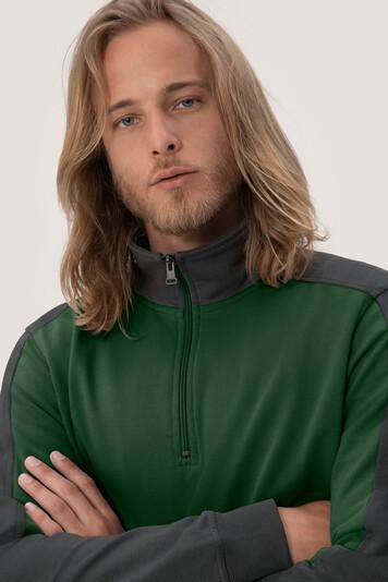 HAKRO Zip-Sweatshirt Contrast Mikralinar® #476